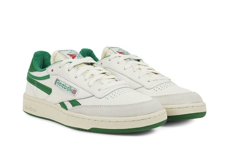 speakers-blanches-sélection-grounds-reebok-revenge-plus-vintage-verte