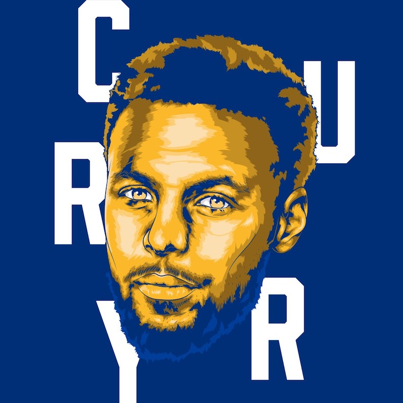 von reox graphistes sport français basketball stéphen curry nba portraits