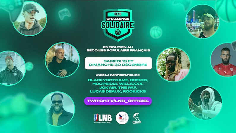 LNB Secours Populaire challenge solidaire twitch