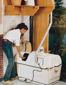 central composting toilet