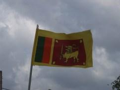Sri Lankan National flag flies high in Nallur, Jaffna Peninsula