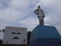 Statue of Great Tamil poet Mahakavi Subramaniya Bhaarathiyaar stands tall in Jaffna