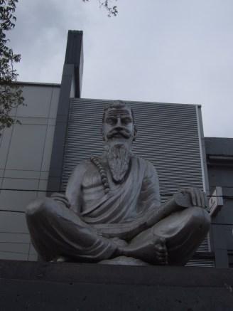 Statue of Jaffna's all time favourite poet Navaaliyur Somasunthara Pulavar. He has written many inspiring poems in Tamil