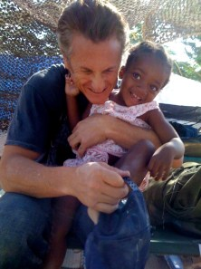 Sean Penn and orphaned girl he saved