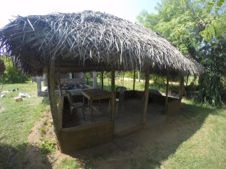 Porch of a community guest house in Kuchchaveli.