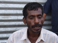 """""""I am a Mason, and I have to find a better income to look after my family.I do not have a permanent house yet"""" laments Meera Mohideen Sinnarasa (42)"""