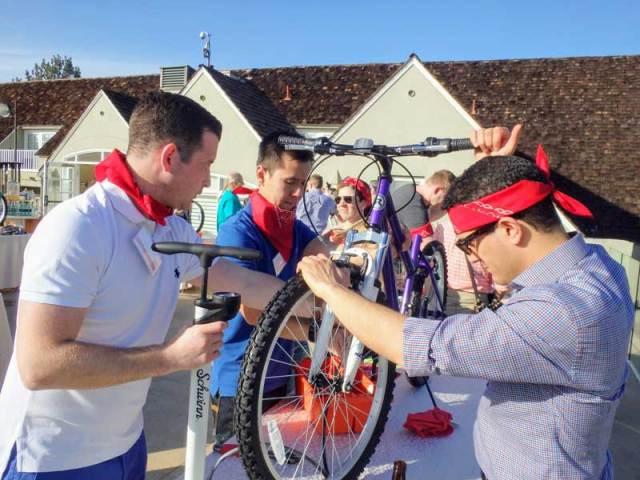 Corporate retreat activities: Charity Bike Build