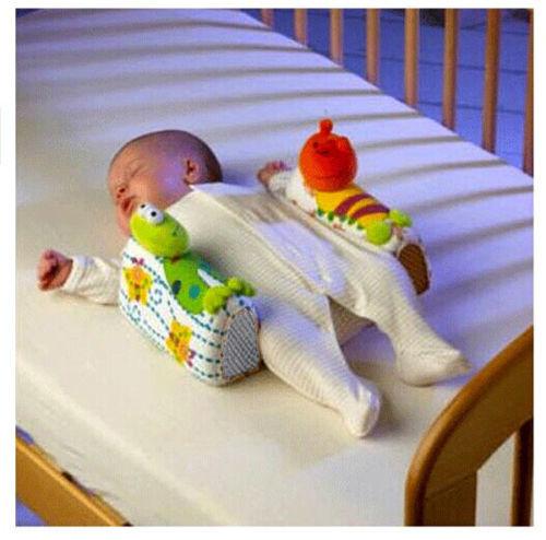 baby infant newborn anti roll pillow sleep positioner prevent flat head cushion
