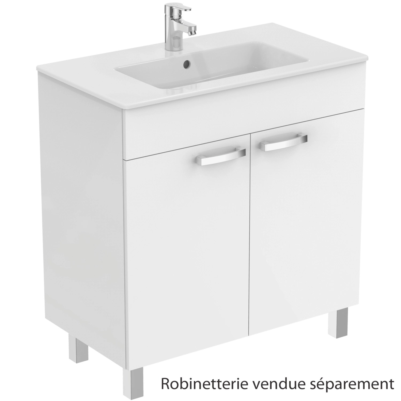 Meuble Sous Plan Et Plan Vasque Ulysse Sur Pieds 2 Portes 80 Cm Porcher Tereva Direct
