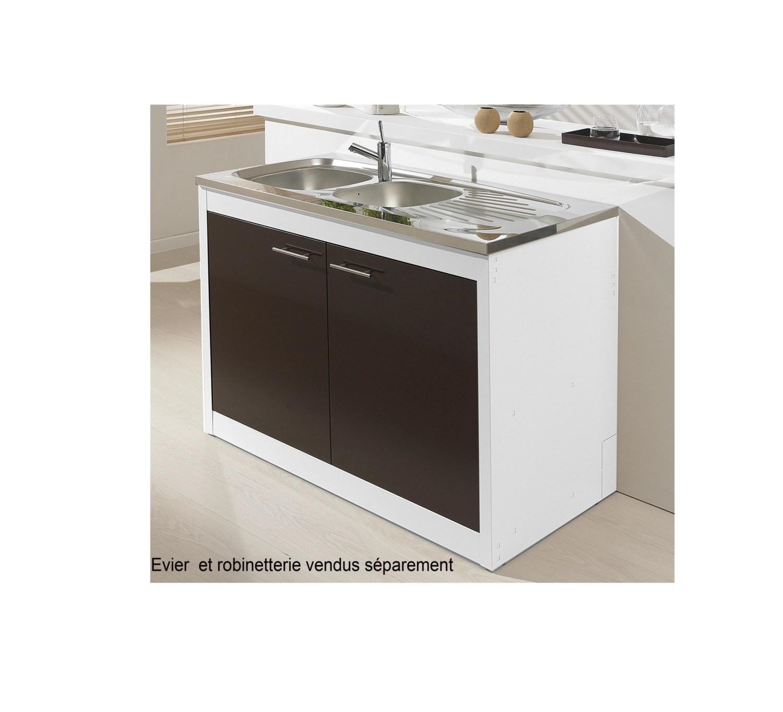 meuble sous evier clipmetal color 100 cm