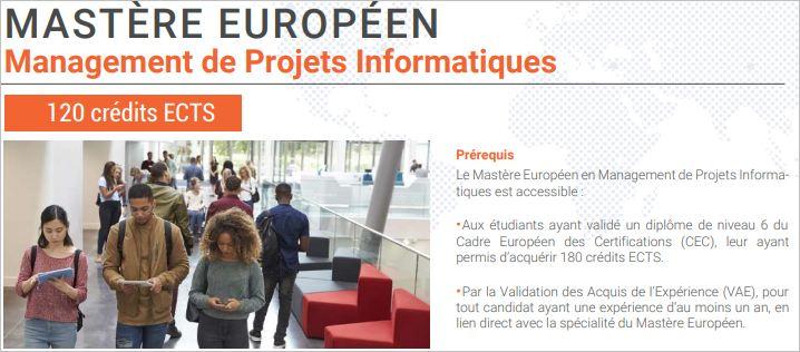 Mastère Européen en Management de Projets Informatiques