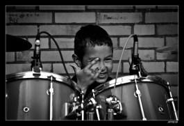 School Band Drummer