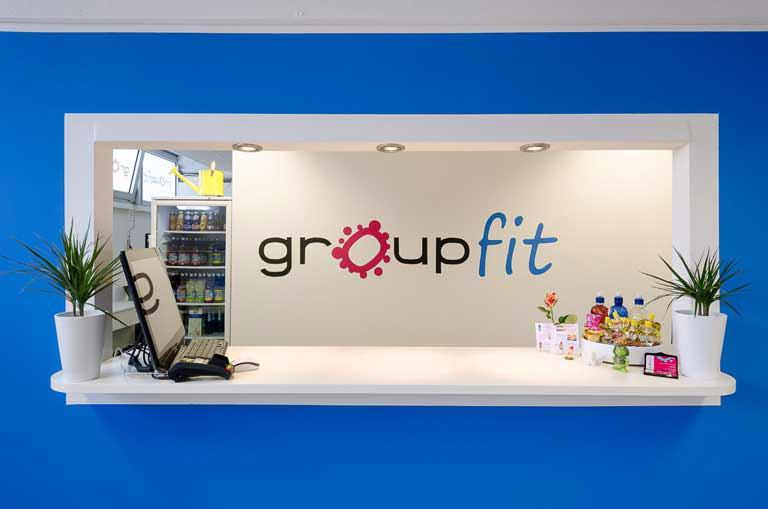 Der Empfang - Check In vom groupfit Fitnessstudio