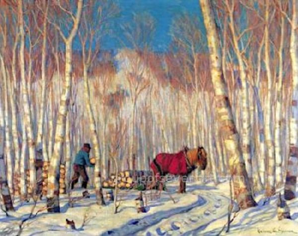 March In The Birch Woods
