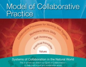 Groupwork Institute Model of Collaborative Practice, acknowledging that systems of collaboration in the natural world inform us in working together
