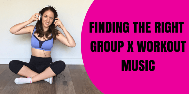 Michelle-listening-to-group-X-workout-music