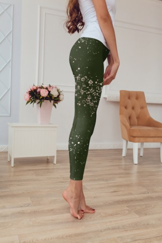 Olive Splash Leggings