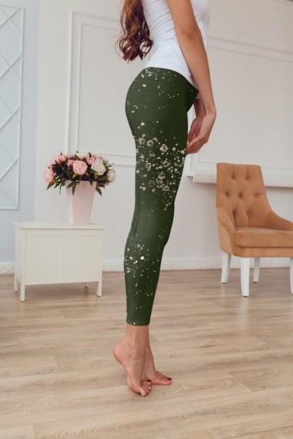 Olive Splash Leggings