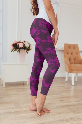 Purple Print Leggings