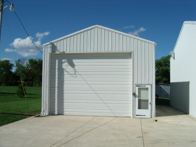 white commercial garage door