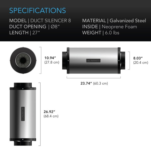 Duct Silencer 8 Dimensions