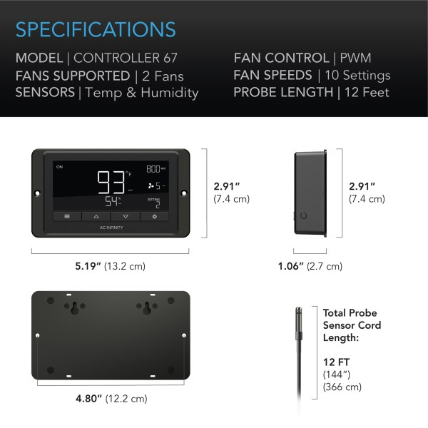 Controller 67 Specifications