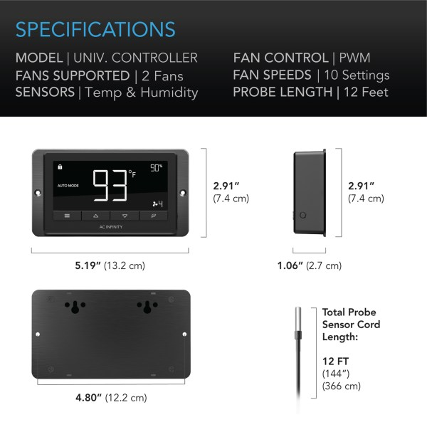 Universal Fan Controller with LCD Panel