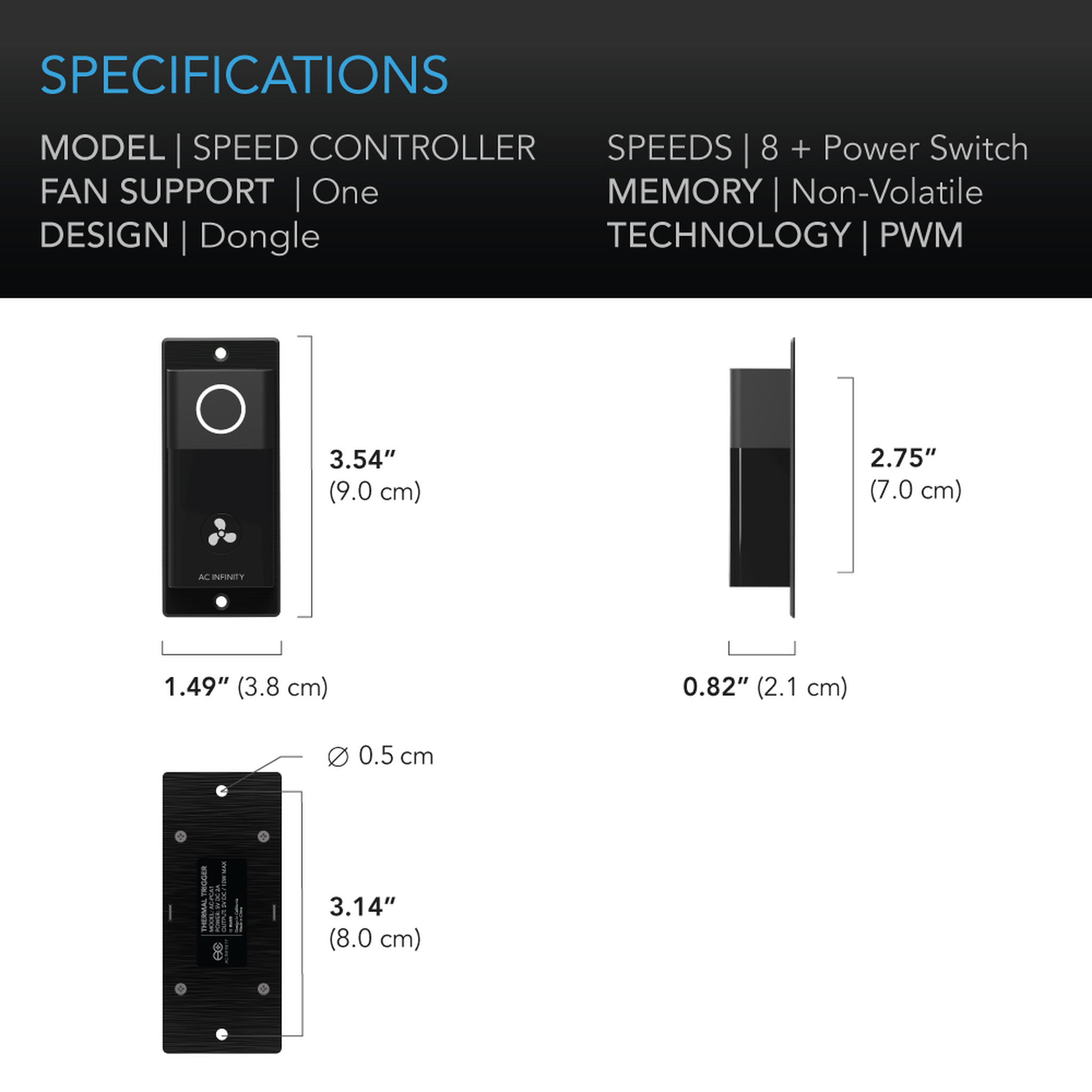 Cloudline Speed Controller Specifications