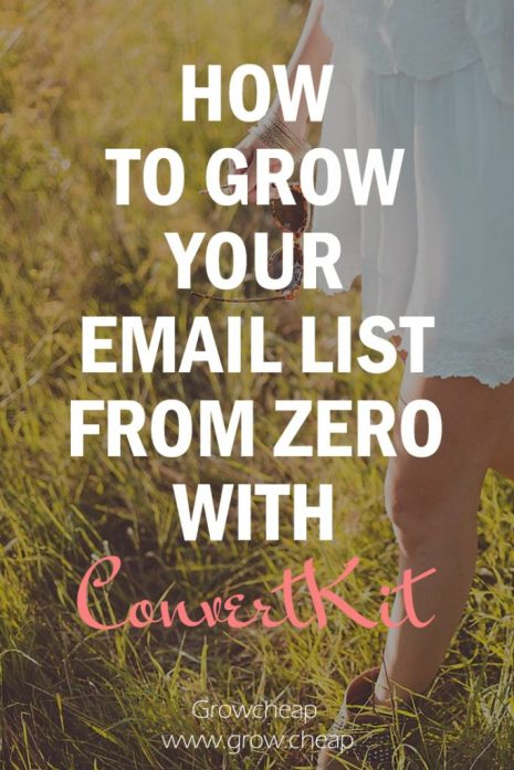How To Grow Email List From Zero & Why ConvertKit? #Blogging #Marketing