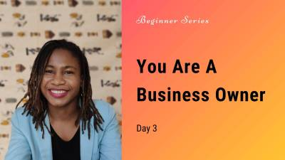 you are a business owner think like one
