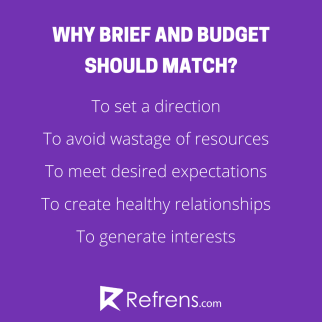 brief and budget should match