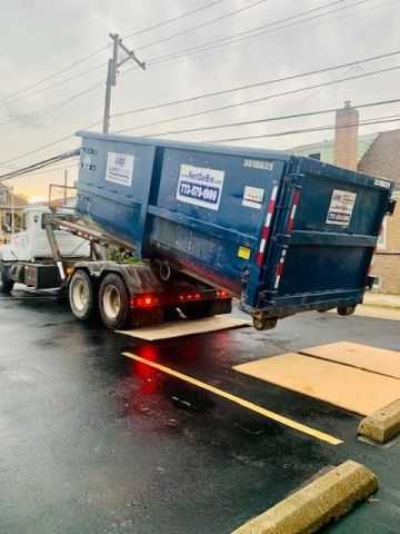 Dump trucks at Midway Dispensary Construction Project