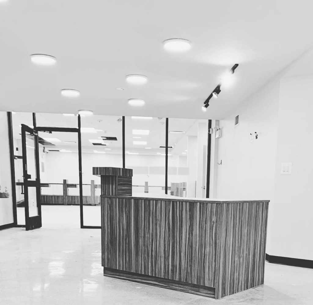 Dispensary front desk