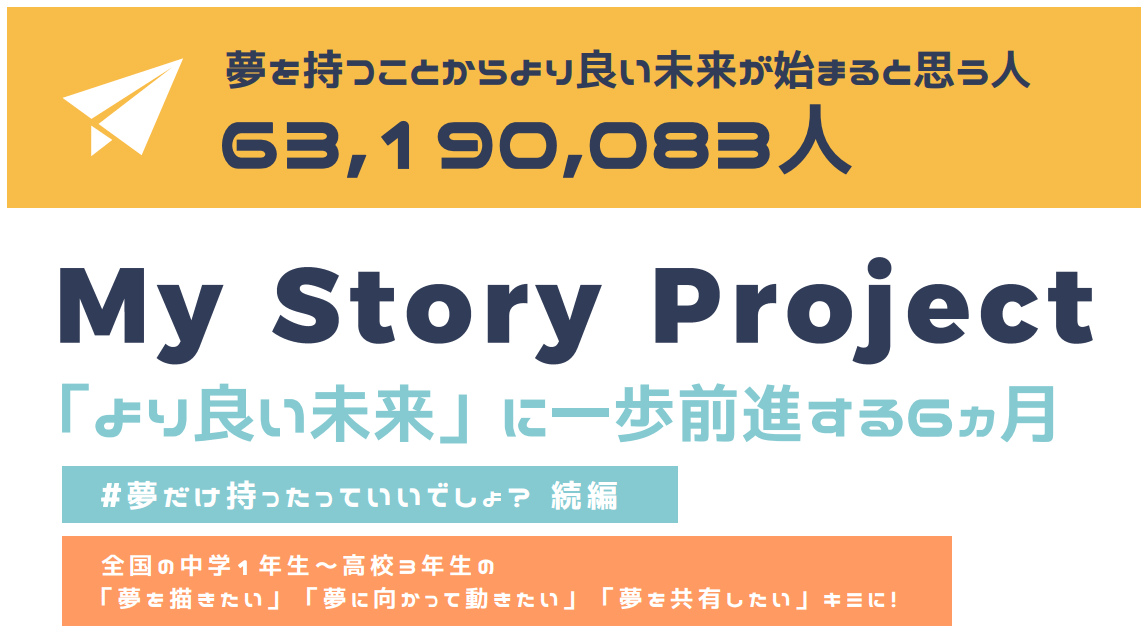 My Story Project「よりよい未来」に一歩を全身する6ヶ月