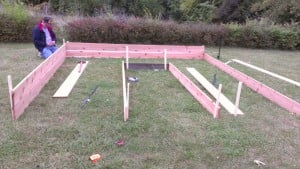 Getting Started on the raised beds.