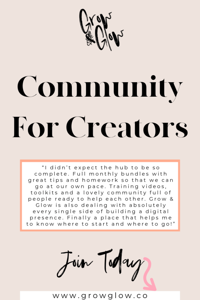 Grow & Glow | A Hub For Creators & Creatives