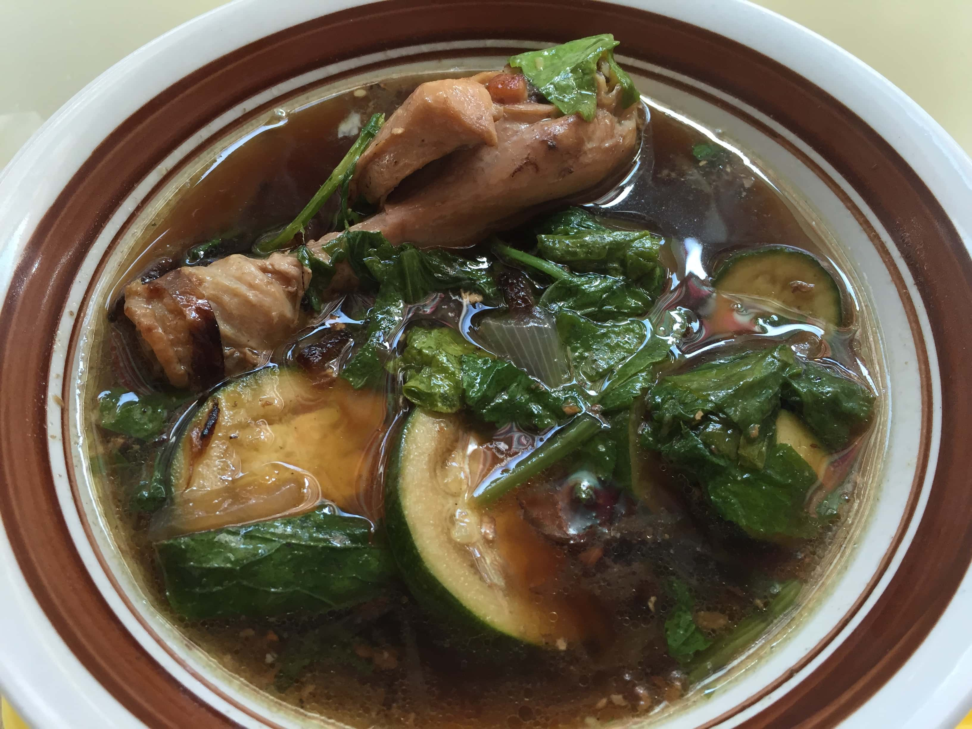 Ginger Spice Chicken soup with pepper leaves
