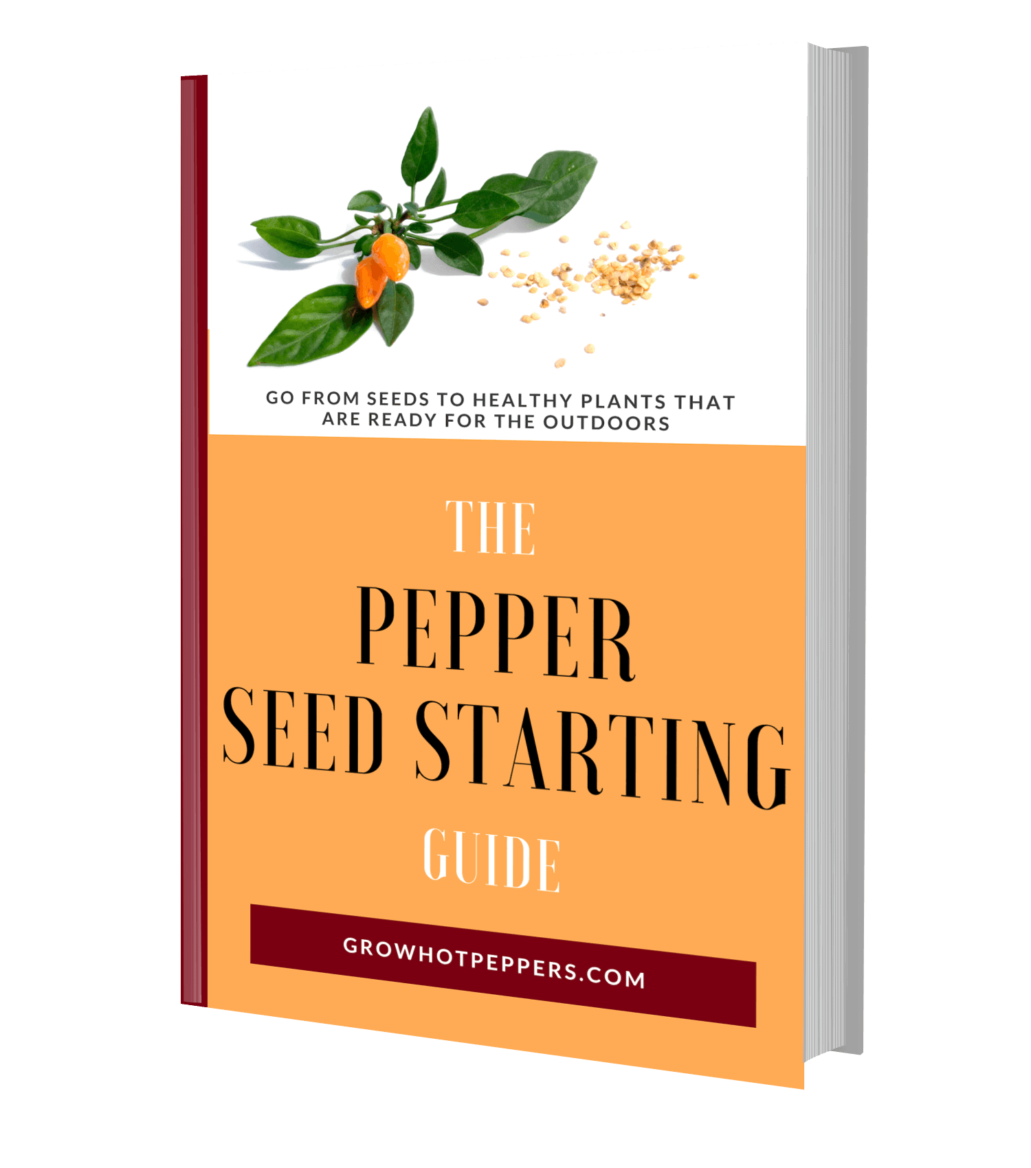 The Pepper Seed Starting Guide 3D book image