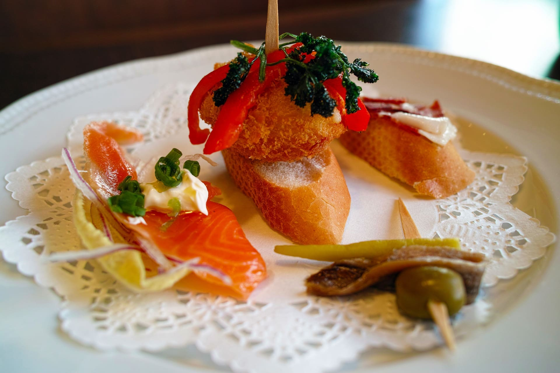 plate of Basque pintxos