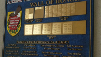 Top Foundation contributors are listed on the Wall of Honor.