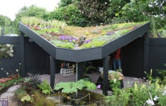 Very Modern Outdoor Shelter incorporating a Green Roof