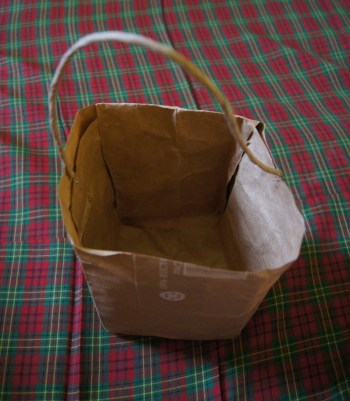 Completed Re-Purposed Paper Bag Plant Pot 1