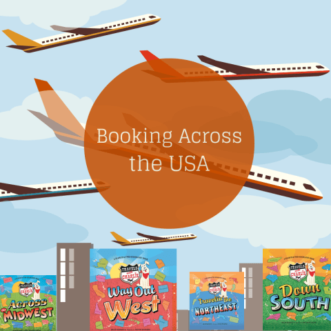 Booking Across the USA Trip 2 created by growingbookbybook.com