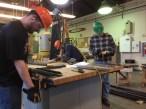 Shelf frame fabrication