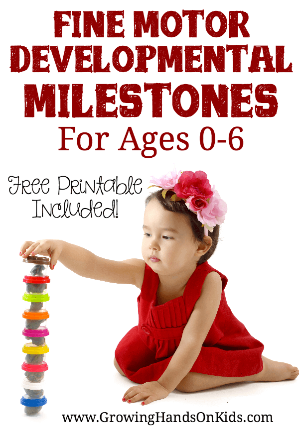 Fine motor development for ages 0-6