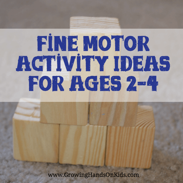 Fine motor activity ideas for toddlers and preschoolers ages 2-4.