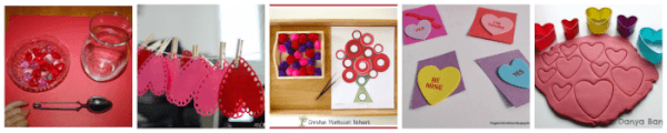 10 fine motor activities for Valentine's Day.