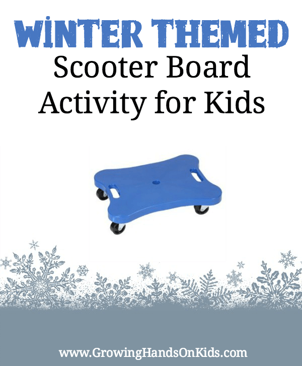 winter scooter board activity for kids