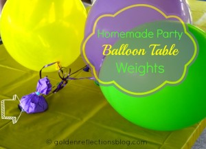 How to make Party Ballon Table Weights   goldenreflectionsblog.com