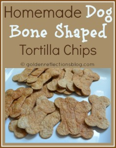 Homemade Dog Bone Shaped Tortilla Chips for a girl's Puppy Dog Birthday Party.   goldenreflectionsblog.com #DogThemeParty #PuppyParty #Girl'sBirthdayParty #BirthdayParty